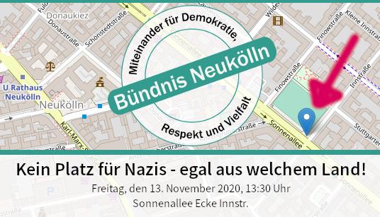 Kundgebung: Kein Platz für Nazis